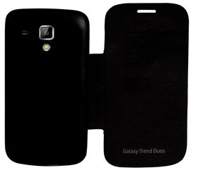 RDcase Flip Cover For Samsung Trend Duos s7562 (Black)