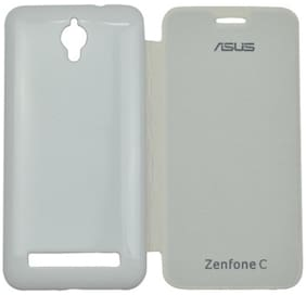 RDcase Flip Cover For Asus Zenfone C (White)