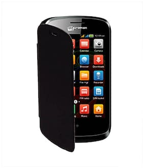 RDcase Flip Cover For Micromax X337 (Black)