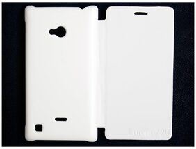 RDcase Flip Cover For Nokia Lumia 720 (White)