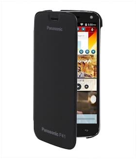 RDcase Flip Cover For Panasonic P41 (Black)