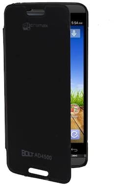 RDcase Flip Cover For Micromax Bolt AD4500 (Black)