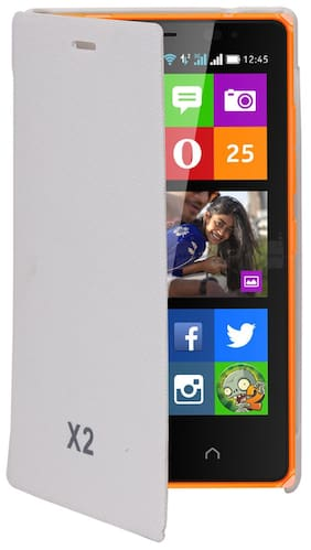 RDcase Flip Cover For Nokia X2 (White)