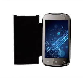 RDcase Flip Cover For Xolo A500 Club (Black)