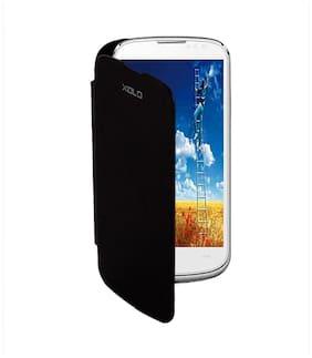 RDcase Flip Cover For Xolo Q 600 (Black)