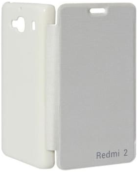 RDcase Flip Cover For Xiaomi Redmi 2 (2nd Gen) (White)
