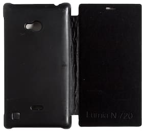RDcase Flip Cover For Nokia Lumia 720 (Black)