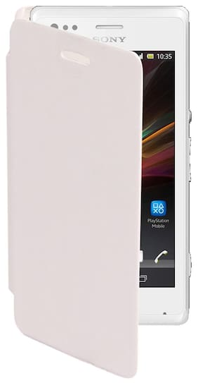 RDcase Flip Cover For Sony Xperia M (White)
