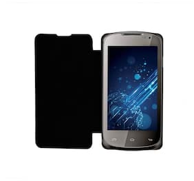 RDcase Flip Cover For Xolo A500 L (Black)