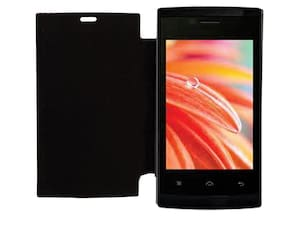 RDcase Flip Cover For Lava 354e (Black)