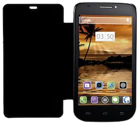 RDcase Flip Cover For Lava 502 (Black)