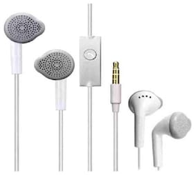 RDS RDS EARPHONE FOR VIVO/OPPO/MI/HONOR/SAM_SUNG WITH CLEAR VOICE AND DEEP BASE In-ear Wired Headphone ( White )
