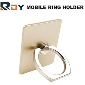 RDY BEST MOBILE RING HOLDER STAND WITH 360 DEGREE ROTATION FOR ALL SMARTPHONES AND TABLETS (GOLDEN COLOR)
