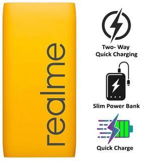 RealMe 10000 mAh Portable Fast Charging Power Bank - Yellow