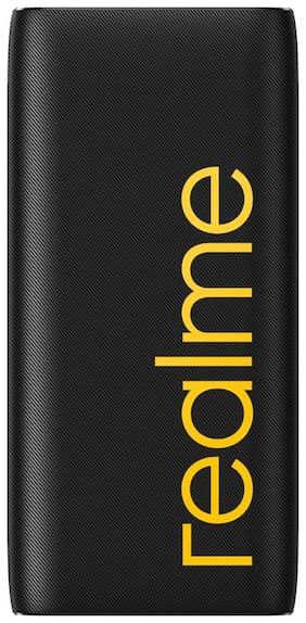 realme 20000 mAh Portable Fast Charging Power Bank - Black