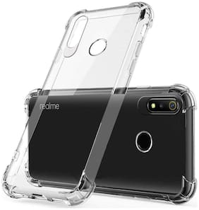 BIG CAT Rubber Back Cover For Realme 3 Pro ( Transparent )