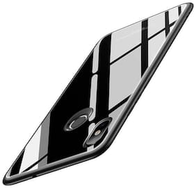 shopyholik Glass Back Cover For Realme 3 Pro ( Black )