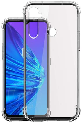 Realme 5 Pro Soft Flexible Shockproof Bumper Transparent Back Case Cover