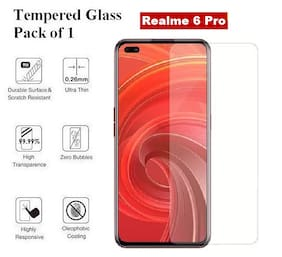 Realme 6 Pro  Tempered Glass (Pack of 1)