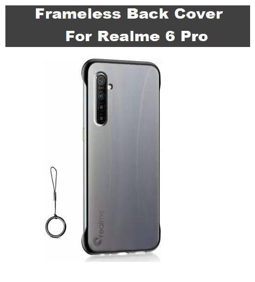 Realme 6 Pro Ultra Thin, Frameless, Matte Finish Back Cover with Ring Buckle (Pack of 1)