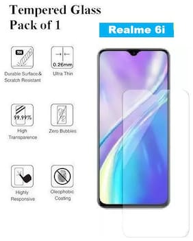 Realme 6i  Tempered Glass (Pack of 1)