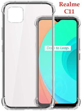 Realme C11 HD Clear Bumper Shockproof Corner Back Cover Transparent(Air Cushion Technology)