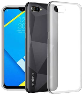 RM Style Silicone Back Cover For Realme C2 ( Transparent )
