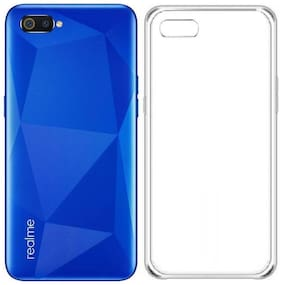 OFFERSONLY Rubber & Silicone Back Cover & Back Replacement Cover For Realme C2 ( Transparent )