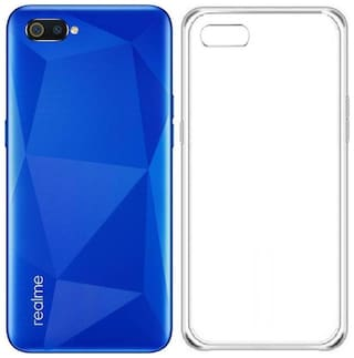 OFFERSONLY Silicone Back Cover For Realme C2 ( Transparent )