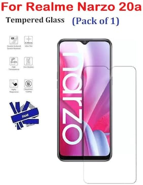Realme Narzo 20a Full Coverage Tempered Glass (Pack of 1)