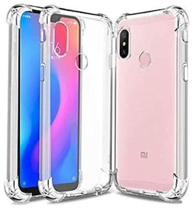 Redmi Note 6 Pro - Shock Proof Crystal Clear Hybrid Soft Bumper Anti Scratch Back Cover Case MI Note 6 Pro