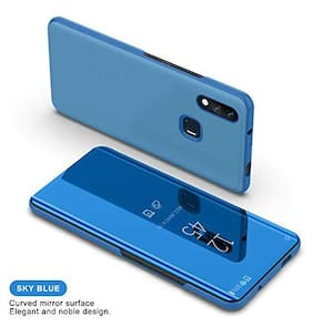 ACCESORIES LEGACY Glass Back Cover & Flip Cover For Redmi Note 7 Pro & Redmi Note 7 ( Blue )