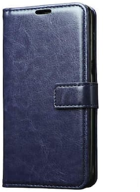 Ultimate Collection Leather Flip Cover For Redmi Note 7 Pro ( Blue )