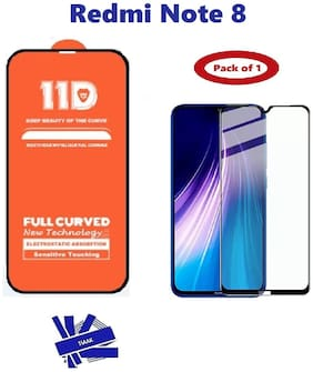Redmi Note 8 Edge to Edge,  Full Glue 11D Tempered Glass with 9H Hardness