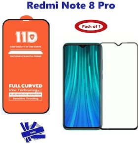 Redmi Note 8 Pro  Edge to Edge,  Full Glue 11D Tempered Glass with 9H Hardness