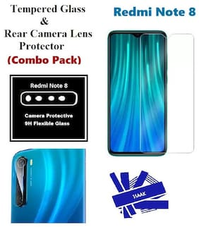 Redmi Note 8  Tempered Glass & Rear Camera Lens Protector (Combo Pack)