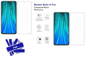Redmi Note 8 Pro Tempered Glass (Pack of 2)