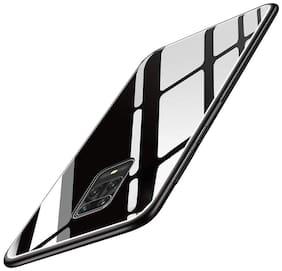 Redmi Note 9 Pro & Redmi Note 9 Pro Max Glass & Silicone Armor Case & Back Cover By EXOTIC FLOURISH ( Black )