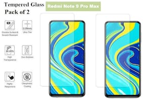 Redmi Note 9 Pro Max Tempered Glass (Pack of 2)