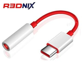 Rednix Audio Adapter Type-C Red;White Color For Mobile