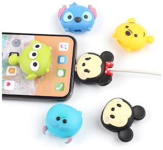 Rednix Cute Cartoon Phone USB cable protector for All Cables Only 1 Pc