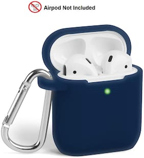 Rednix DARK BLUE Silicone Airpods Case Cover Compatible for Apple Airpods 2&1 Charging Case