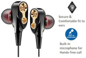 Rednix Earphones multimedia In-ear Wired Headphone ( Black )