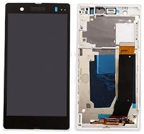 Replacement LCD Display Screen with frame compatible with Sony Z : White