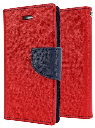 big sale 6d1e5 2a960 Buy REYTAIL Flip Cover for Micromax Q391 Canvas Doodle 4 (Red ...