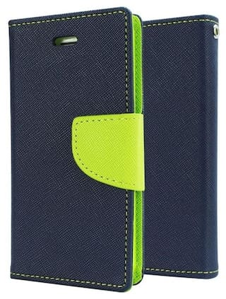 lowest price a62e2 18355 Buy REYTAIL Stylish Blue Wallet Diary Synthetic Leather Flip Cover ...