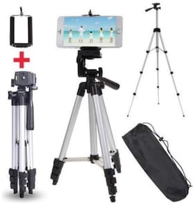 RME 3110 Portable & Foldable Camera with Tripod and Mobile Clip Bracket(Black  Silver)