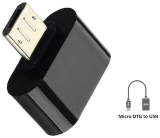 5PLUS RME little Micro OTG To USB 2.0 Adapter Only work with phones having OTG support feature in it( Assorted colour)