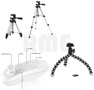 Rme Trip Combo Profesional Tripod For Dslr & Mobile With Small Tripod With Remote For Gaming (Multicolour)  66