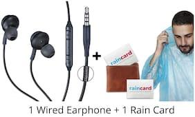 Rockpapa AK-Raincard-Combo AKG-Raincard-Combo In-Ear Wired Headphone ( Black )